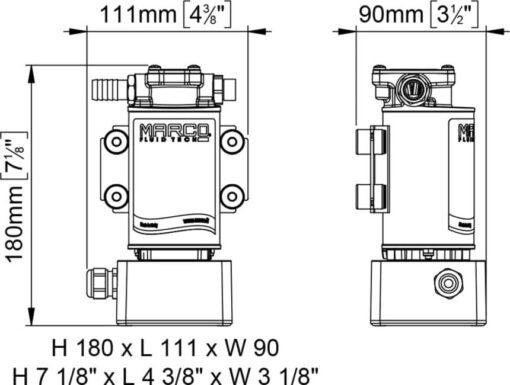 Marco OCK1-E Kit transfert huile/diesel réversible électronique (12-24 Volt) 6
