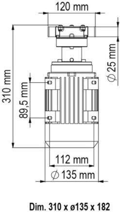Marco UP1/AC 220V 50 Hz Pompe rotor souple 7.9 gpm - 30 l/min 7