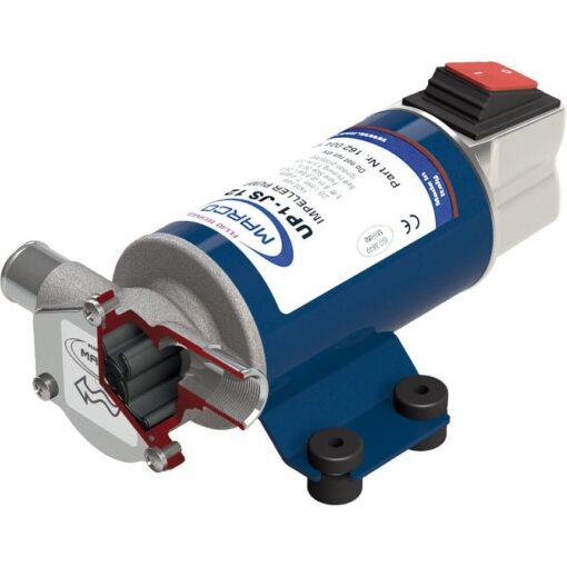 Marco UP1-JS Pompe rotor souple 7.4 gpm - 28 l/min avec on/off intégré (24 Volt) 2