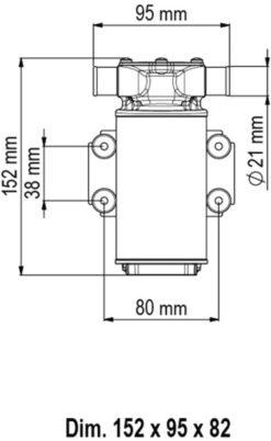 Marco UP1-J Pompe rotor souple 7.4 gpm - 28 l/min (24 Volt) 6