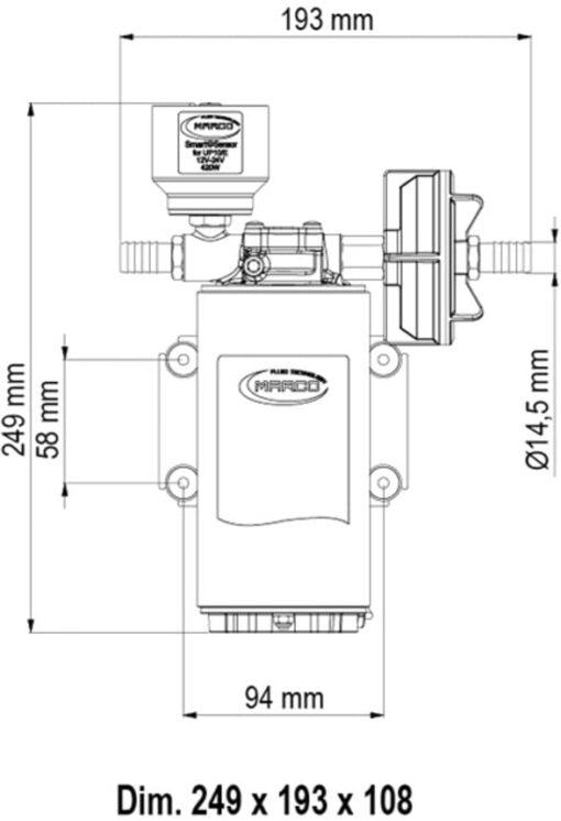 Marco UP10/E Groupe d'eau avec contrôle électronique 4.8 gpm - 18 l/min 6