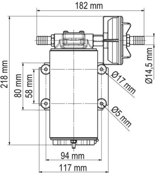 Marco UP10-XC Pompe inox pour services lourds - 18 l/min - AISI 316 L (12 Volt) 4
