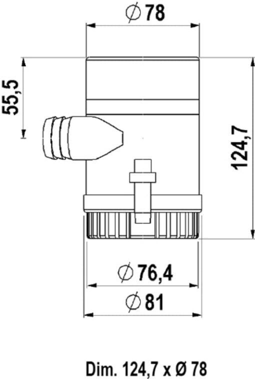 Marco UP1000 Pompe immergée 1000 gph - 63 l/min (12 Volt) 3