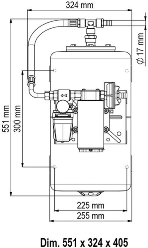Marco UP12/A-V20 Groupe d'eau + vase 20 l (24 Volt) 4