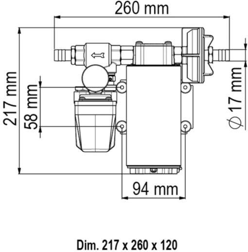 Marco UP12/A Groupe d'eau avec pressostat 9.5 gpm - 36 l/min (24 Volt) 4
