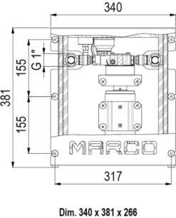 Marco UP12/E-DX Double groupe d'eau avec contrôle électronique 19 gpm - 72 l/min 7