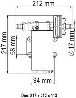 Marco UP12-PV Pompe à engrenages PTFE avec clapet anti-retour 9.5 gpm - 36 l/min (24 Volt) 9
