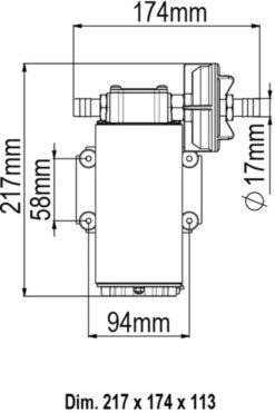 Marco UP12-P Pompe à engrenages PTFE 9.5 gpm - 36 l/min (12 Volt) 9