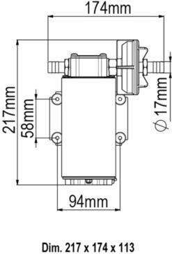 Marco UP12 Pompe à engrenages bronze 9.5 gpm - 36 l/min (24 Volt) 9