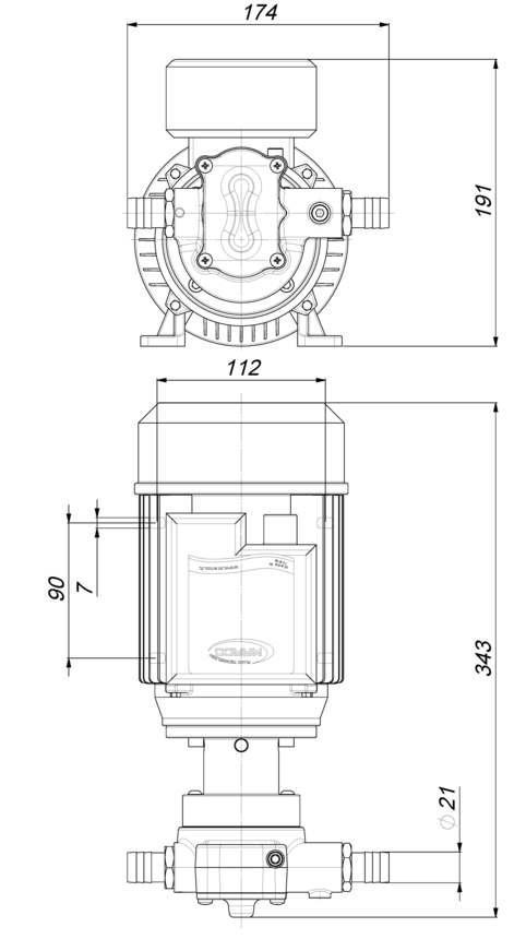 Marco UP14/AC 220V 50 Hz Pompe à engrenages PTFE 11.6 gpm - 44 l/min 6