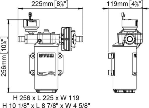 Marco UP14/E-BR 12/24V Pompe à engrenages en bronze avec commande électronique 12.2 gpm - 46 l/min 7