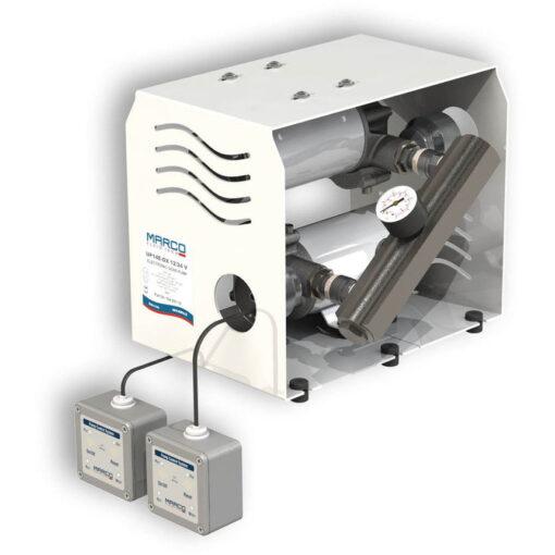 Marco UP14/E-DX 12/24V Double groupe d'eau avec contrôle électr. + PCS 24 gpm - 92 l/min 3