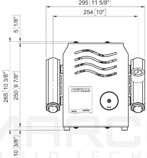 Marco UP14/E-DX 12/24V Double groupe d'eau avec contrôle électr. + PCS 24 gpm - 92 l/min 7