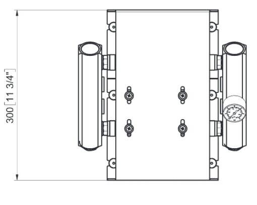 Marco UP14/E-DX 12/24V Double groupe d'eau avec contrôle électr. + PCS 24 gpm - 92 l/min 6