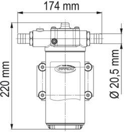 Marco UP14-PV Pompe à engrenages PTFE avec clapet anti-retour 12.2 gpm - 46 l/min (12 Volt) 9