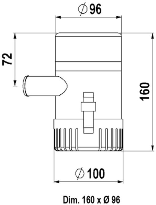 Marco UP1500 Pompe immergée 1500 gph - 95 l/min (24 Volt) 3