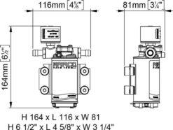 Marco UP2/E-BR 12/24V Pompe à engrenages en bronze avec commande électronique 2.6 gpm - 10 l/min 11