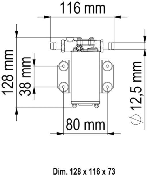 Marco UP2-PV Pompe à engrenages PTFE avec clapet anti-retour 2.6 gpm - 10 l/min (24 Volt) 6