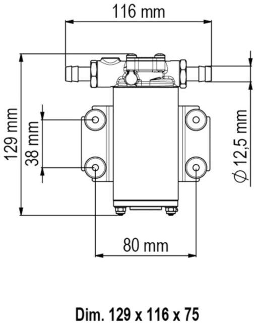 Marco UP2-P Pompe à engrenages PTFE 2.6 gpm - 10 l/min (12 Volt) 4