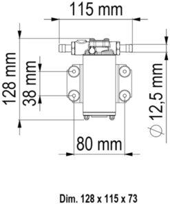 Marco UP2 Pompe à engrenages bronze 2.6 gpm - 10 l/min (24 Volt) 7
