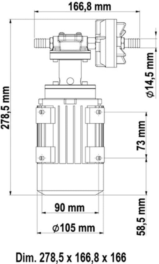 Marco UP3/AC 220V 50 Hz Pompe à engrenages bronze 2.6 gpm - 10 l/min 6