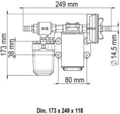Marco UP3/A Groupe d'eau avec pressostat 4 gpm - 15 l/min (12 Volt) 7