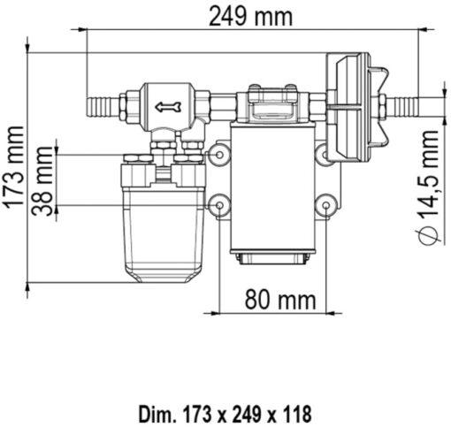 Marco UP3/A Groupe d'eau avec pressostat 4 gpm - 15 l/min (12 Volt) 4