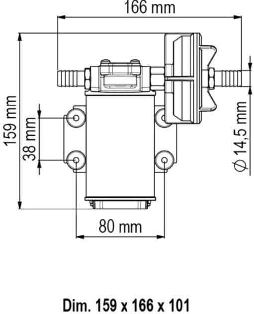Marco UP3-P Pompe à engrenages PTFE 4 gpm - 15 l/min (24 Volt) 6