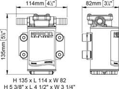 Marco UP3-RK Kit pompe flux reversible avec control eléctronique 4 gpm - 15 l/min (12-24 Volt) 10