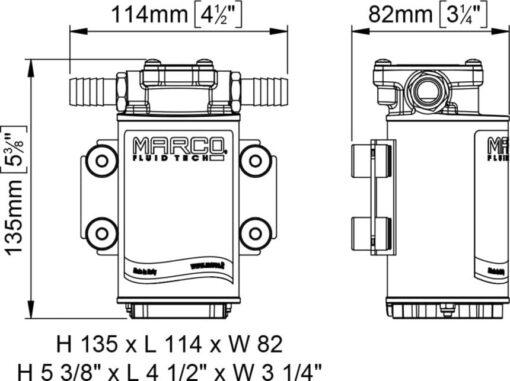 Marco UP3-RK Kit pompe flux reversible avec control eléctronique 4 gpm - 15 l/min (12-24 Volt) 5