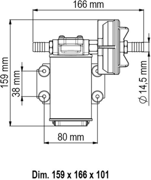 Marco UP3 Pompe à engrenages bronze 4 gpm - 15 l/min (24 Volt) 6