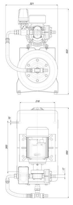 Marco UP6/A-AC 220V 50 Hz Groupe d'eau avec vase 20 l 7