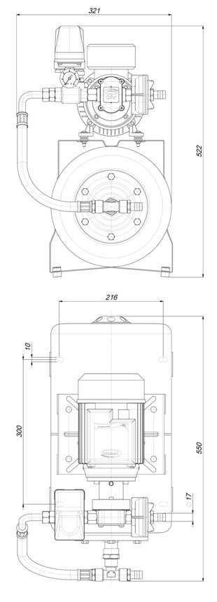 Marco UP6/A-AC 220V 50 Hz Groupe d'eau avec vase 20 l 4