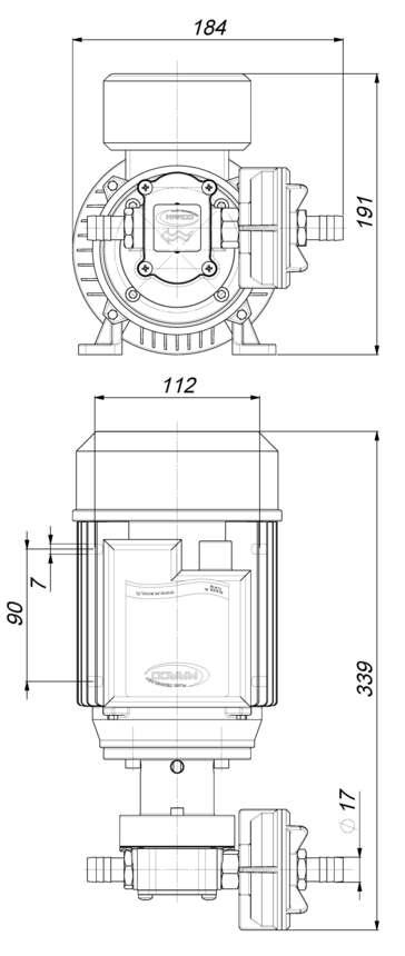 Marco UP6/AC 220V 50 Hz Pompe à engrenages PTFE 7.4 gpm - 28 l/min 6