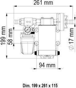 Marco UP6/A Groupe d'eau avec pressostat 6.9 gpm - 26 l/min (12 Volt) 9