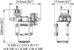 Marco UP6/E-BR 12/24V Pompe à engrenages en bronze avec commande électronique 6.9 gpm - 26 l/min 12