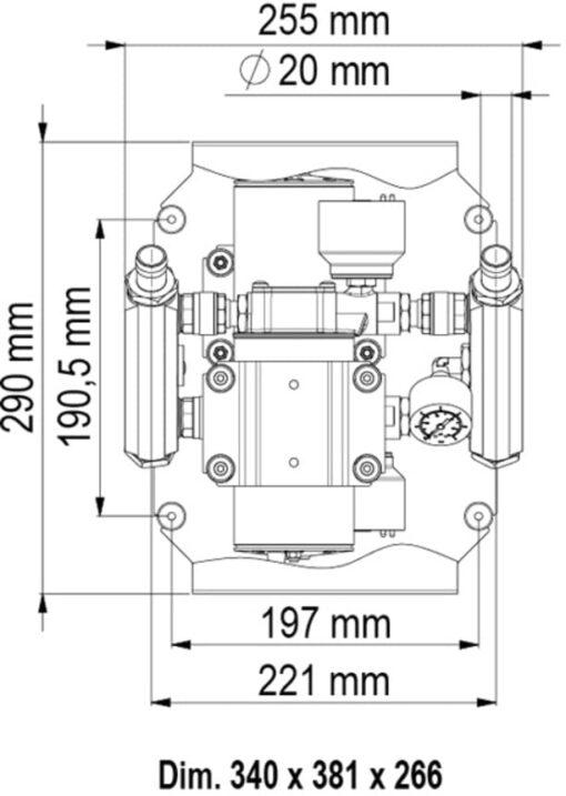 Marco UP6/E-DX Double groupe d'eau avec contrôle électronique 13.7 gpm - 52 l/min 6