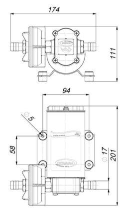 Marco UP6-P Pompe à engrenages PTFE 6.9 gpm - 26 l/min (12 Volt) 9