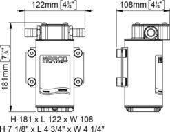 Marco UP6-RK Kit pompe flux reversible avec control eléctronique 6.9 gpm - 26 l/min (12-24 Volt) 13