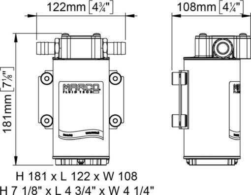 Marco UP6-RK Kit pompe flux reversible avec control eléctronique 6.9 gpm - 26 l/min (12-24 Volt) 8