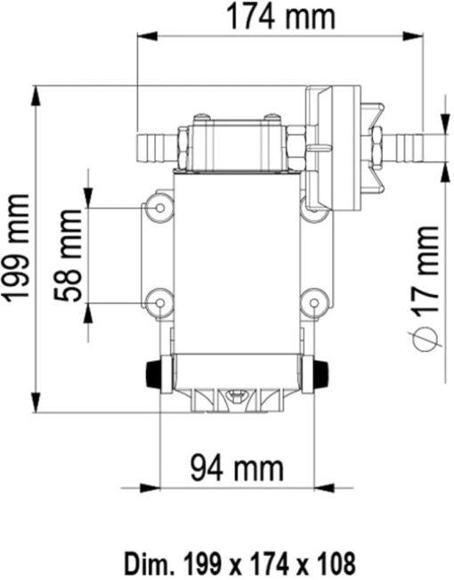 Marco UP6 Pompe à engrenages bronze 6.9 gpm - 26 l/min (24 Volt) 6