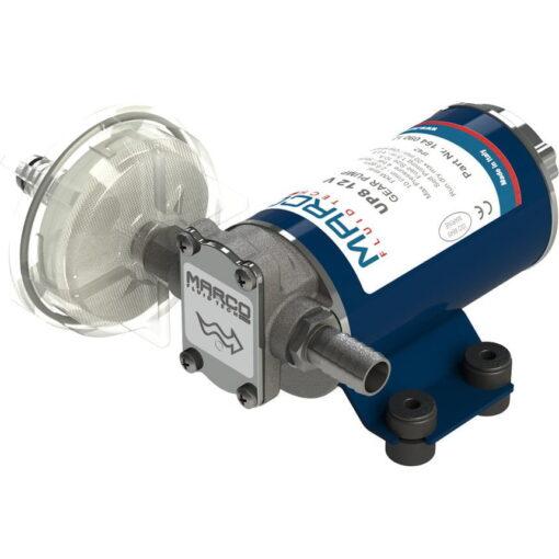 Marco UP8-P Pompe à engrenages PTFE pour services lourds 2.6 gpm - 10 l/min (12 Volt) 3