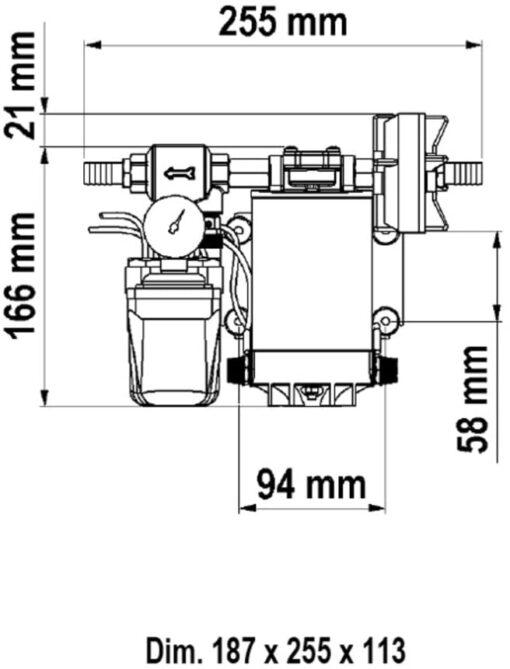 Marco UP9/A Groupe d'eau avec pressostat 3.2 gpm - 12 l/min (12 Volt) 4