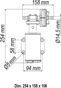 Marco UP9-HD Pompe pour services lourds avec bride 3.2 gpm - 12 l/min (24 Volt) 9