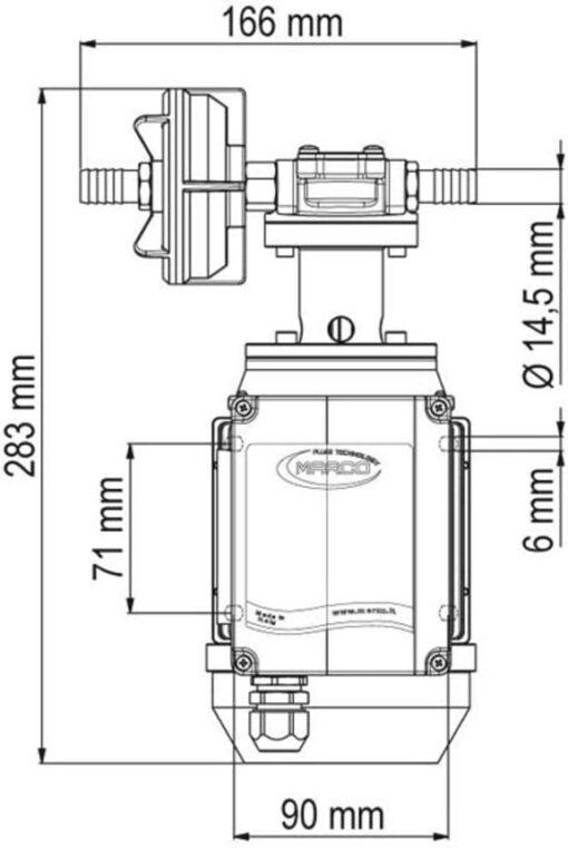 Marco UPX/AC Pompe à engrenages - 2.6 gpm - 10 l/min - Inox AISI 316 L (220 Volt) 6