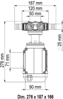 Marco VP45/AC 220 V 50 Hz Pompe à palettes 9.25 gpm - 35 l/min 10