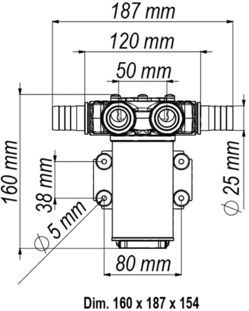 Marco VP45-N Pompe à palettes 11 gpm - 45 l/min (24 Volt) 6