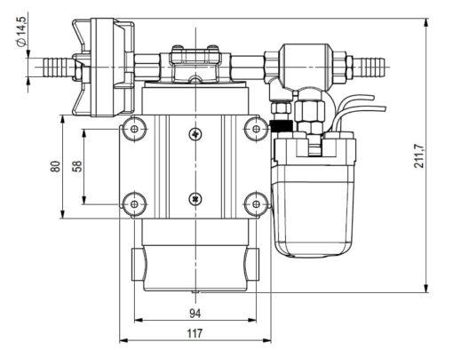 Marco DP12 Kit de Pompe à laver 5 bar - 72.5 psi (12 Volt) 4