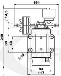 Marco DP12/E Pompe à laver + contrôle électronique 5 bar - 72.5 psi 10