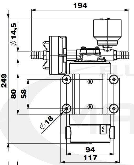 Marco DP12/E Pompe à laver + contrôle électronique 5 bar - 72.5 psi 4